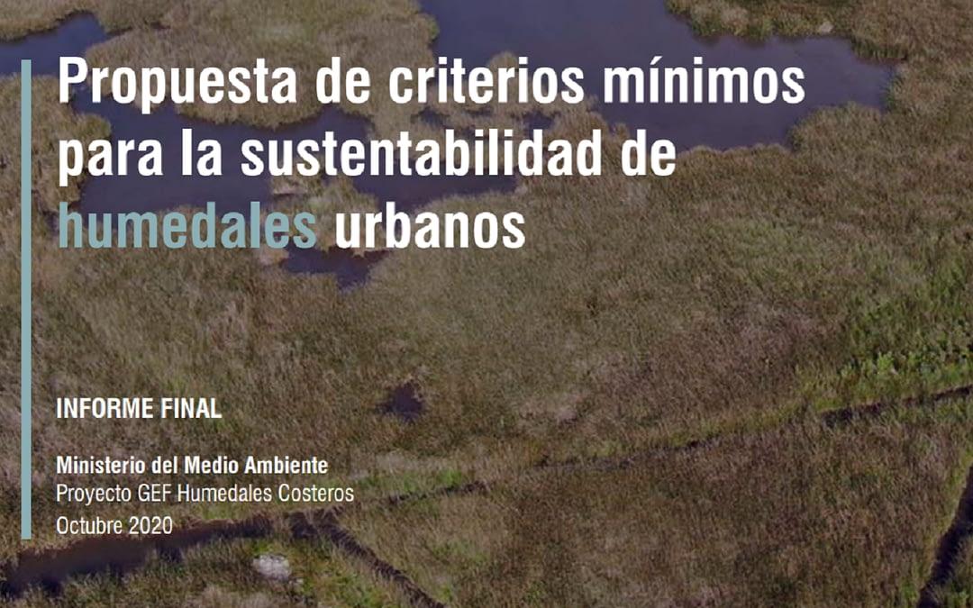 Publican Informe Final de Criterios Mínimos para la Sustentabilidad de Humedales Urbanos